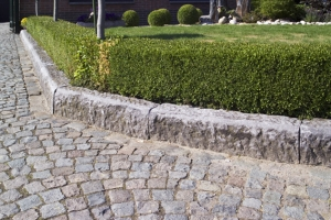 A choice of different types of paving setts.
